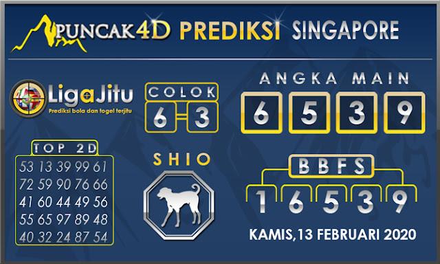PREDIKSI TOGEL SINGAPORE PUNCAK4D 13 FEBRUARI 2020