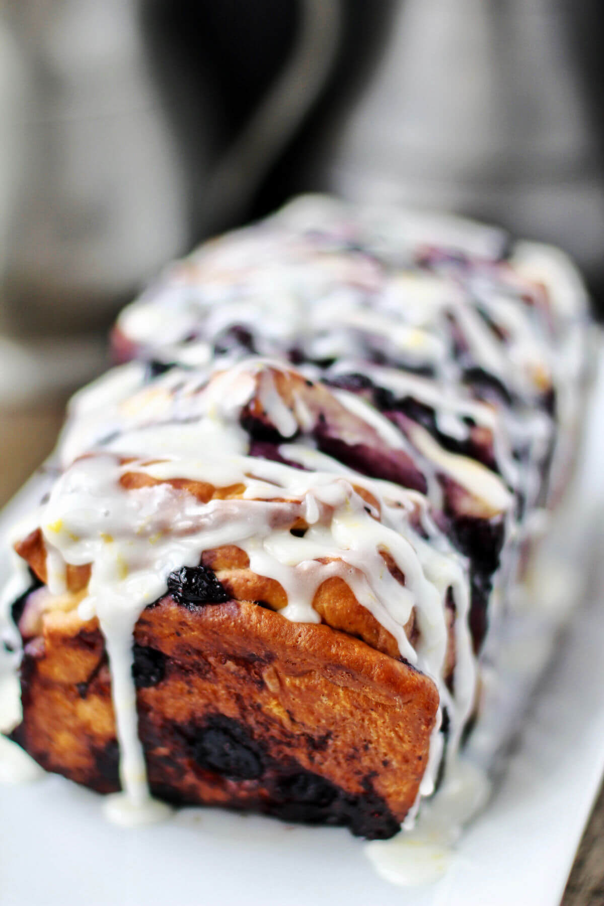 Roasted Blueberry Pull-Apart Loaf.