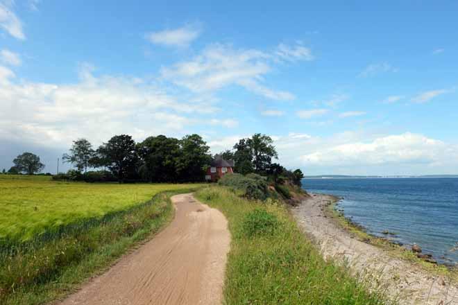 Radtour Ostsee, vom Timmendorfer Strand nach Travemünde, Brodtener Steilufer, Radweg am Meer