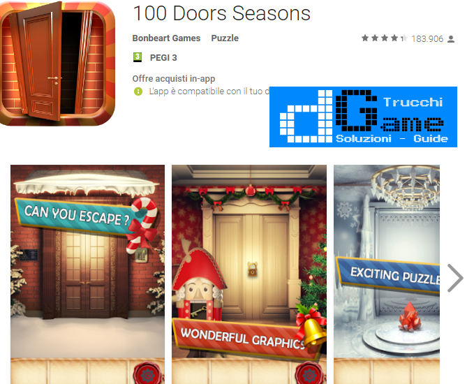 Soluzioni 100 Doors Seasons livello 1-2-3-4-5-6-7-8-9-10 | Trucchi e Walkthrough level