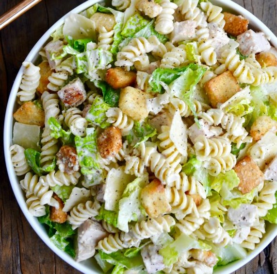 Chicken Caesar Pasta Salad #vegetarian #refreshingrecipe