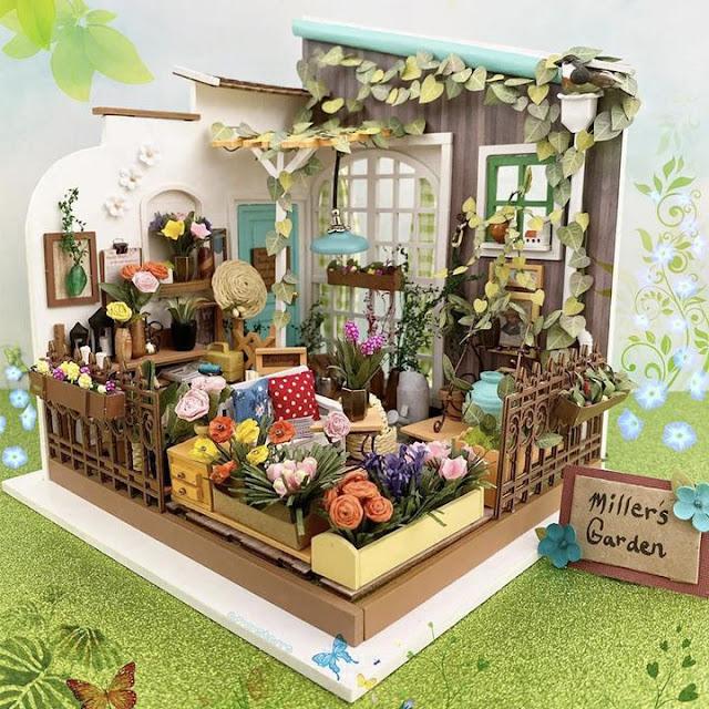 Rolife dollhouse diy Miller's Garden-casa delle bambole fai da te