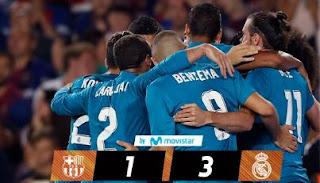 Video Cuplikan Gol Barcelona vs Real Madrid 1-3 Leg 1 Piala Super Spanyol 2017