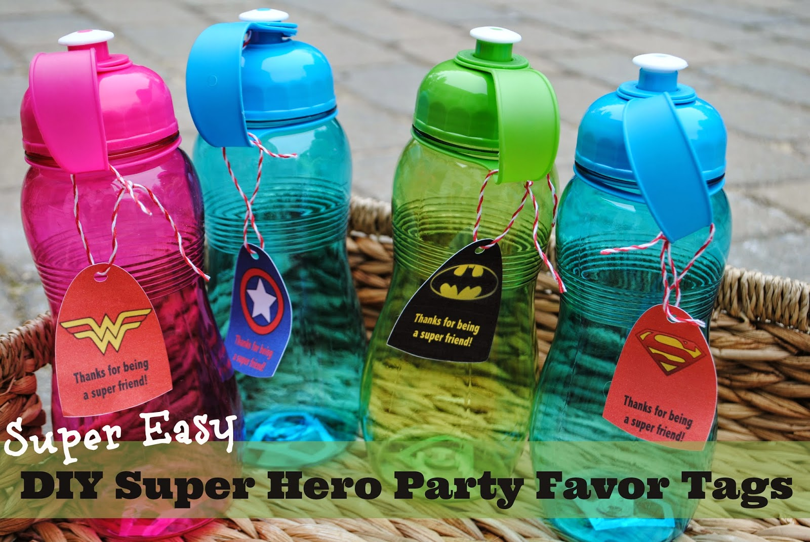 two it yourself diy personalized superhero cape party favor tags