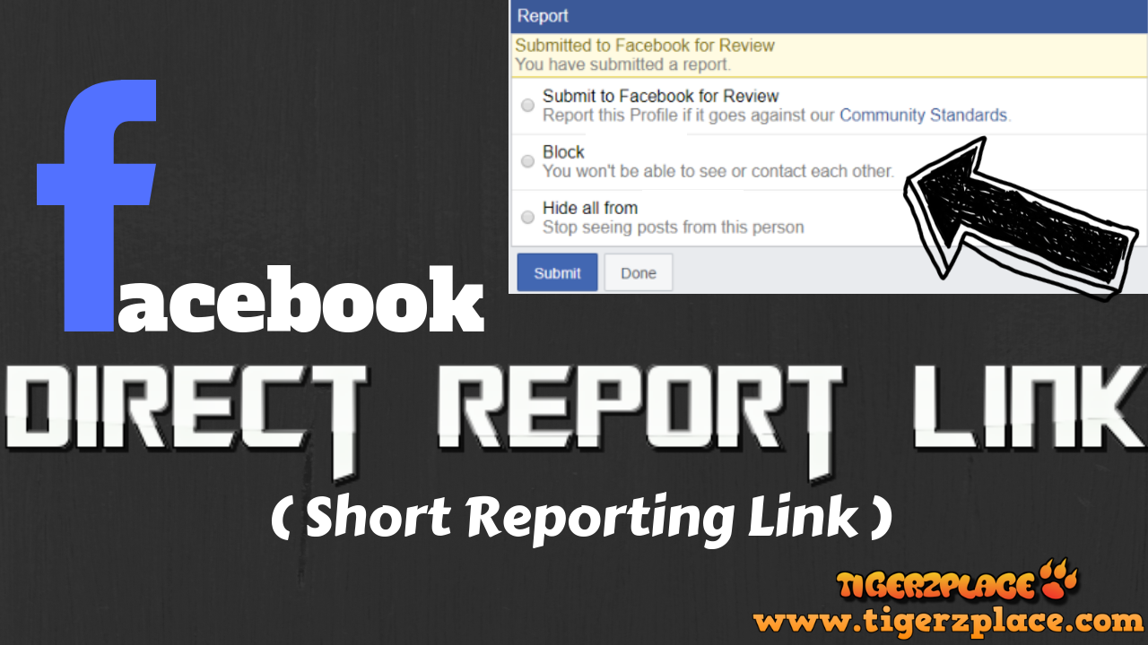 How to make Facebook direct report link - (Short Reporting