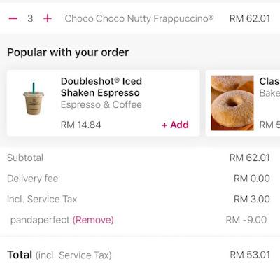 total order selepas guna code pandaperfect
