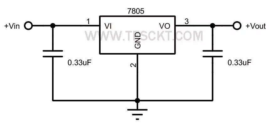 basic circuit of 7805
