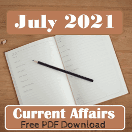 July Current Affairs 2021 PDF Free Download in Hindi