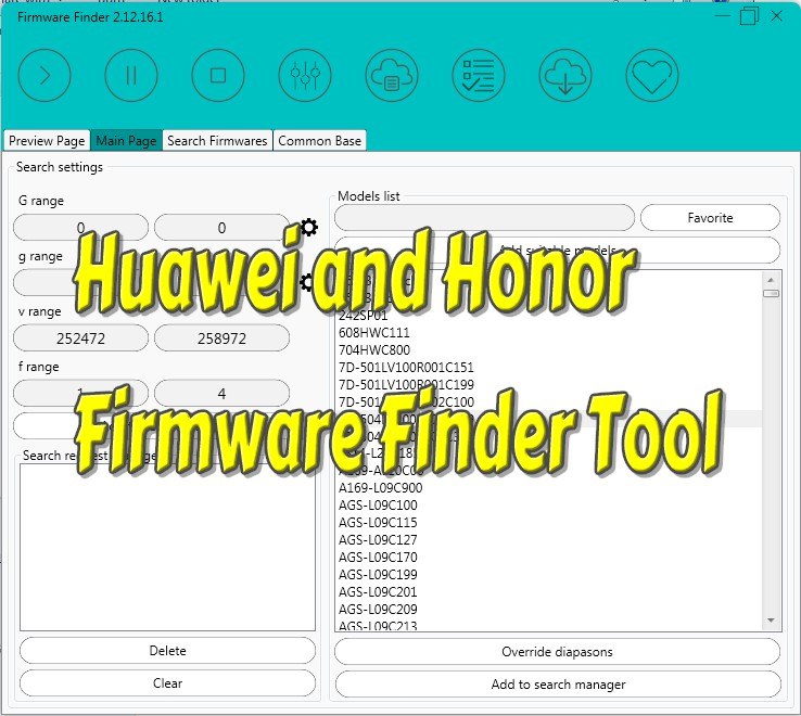 Huawei and Honor Firmware Finder Tool - Gsm Crack 100% Tested