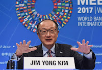 World Bank President Jim Yong Kim speaks at the opening press conference of the 2017 World Bank and International Monetary Fund (IMF) Spring Meetings in Washington DC, April 20, 2017. (Photo Credit: Xinhua) Click to Enlarge.