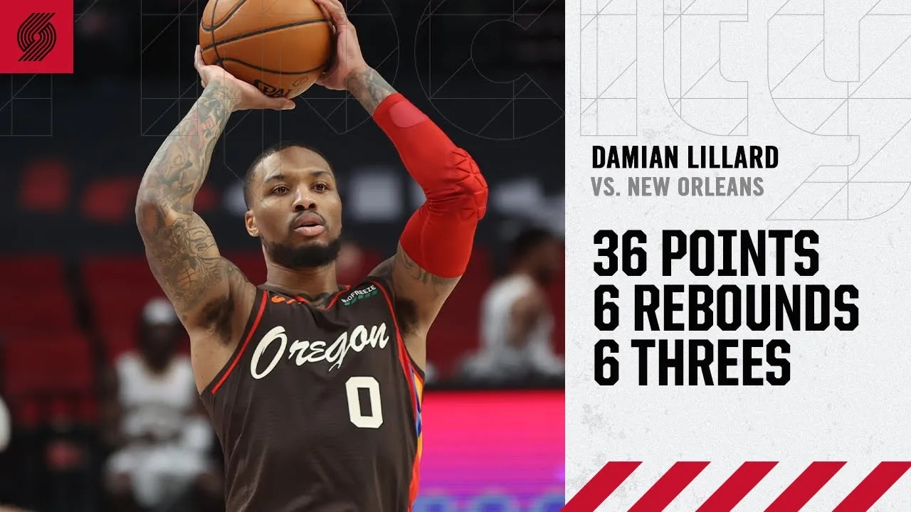 Damian Lillard 36pts 6reb vs NOP | March 18, 2021 | 2020-21 NBA Season
