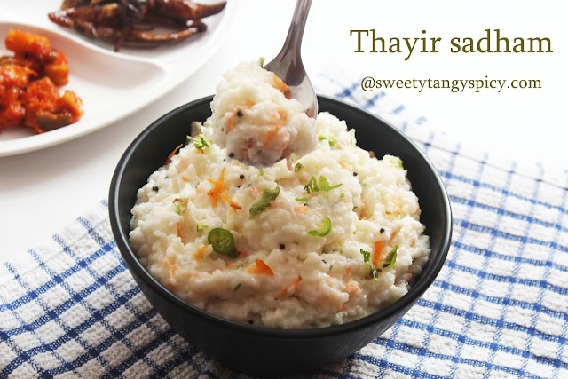 Thayir Sadam Recipe  | Tamil Nadu Curd Rice Recipe
