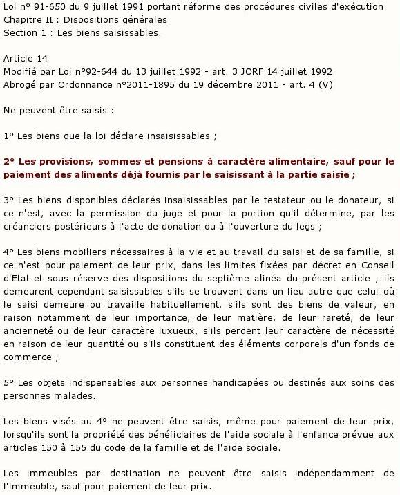 Loi n°91-650