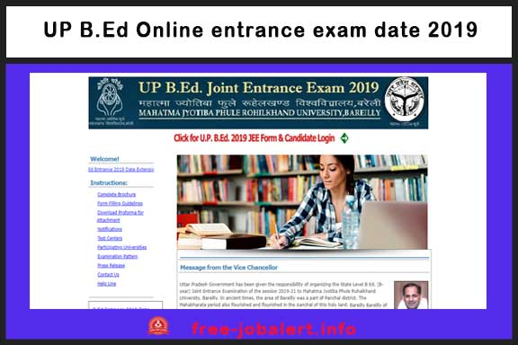 UP B.Ed Online entrance exam date 2019: The deadline for the application form of the BEd entrance examination increased, now till March 14, the application will be, see official release - from March 13 to March 17