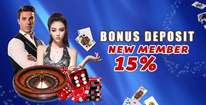 Bonus Deposit New Member 15%