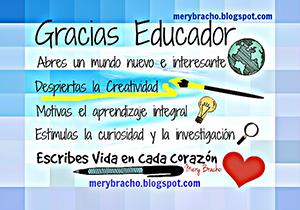 imagen tarjeta pensamientos bonitos para maestra educador maestro profesora