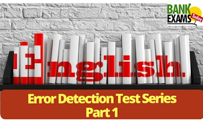 Error Detection Test Series: Part 1