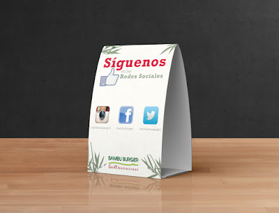 Table Tents - tri fold table tent