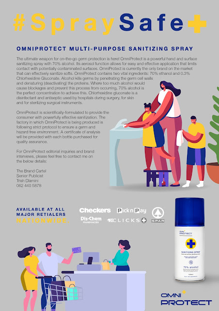 OmniProtect Sanitizing Spray Partnering To Donate 4000lt to 4 Communities #SprayItForward