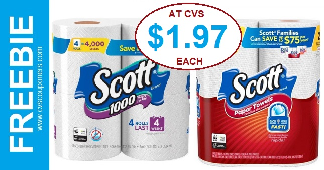 CVS Scott Paper Towels & Bath Tissue Deal Only $1.97