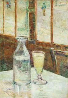 """""""Naturaleza muerta con absenta"""", por Vincent van Gogh, 1887"""