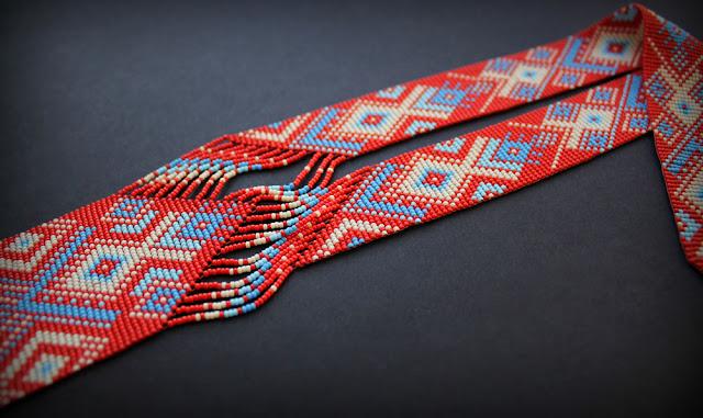 купить гердан японский бисер крупные этнические необычные украшения купить