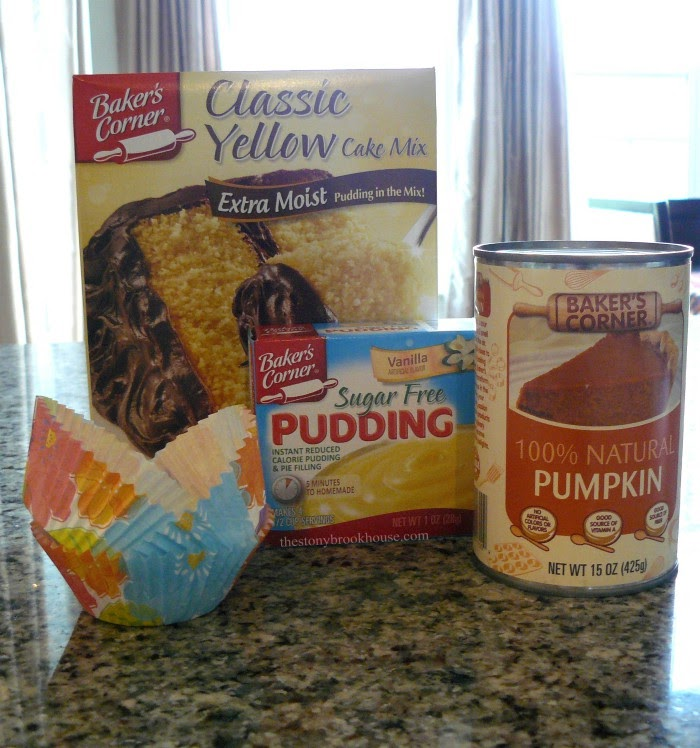 Pumpkin Cupcake ingredients