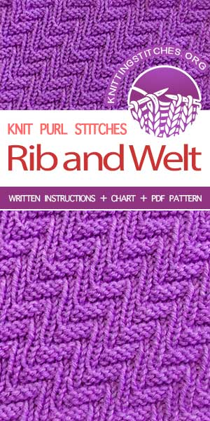 KnittingStitches.org -- The Art of Knitting, knit Rib and Welt stitch #knittingstitches #knitpurl