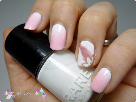Nail art degradado rosa. Azahar Reto Fairy's Tale Nails