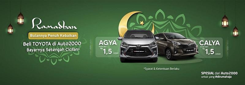 Promo Beli Toyota di Auto2000 Bogor Bayar Setengah Cicilanmu Saja