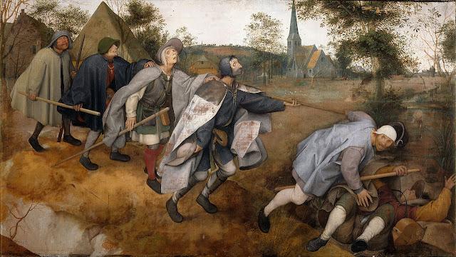 """Картина Питера Брейгеля Старшего """"Притча о слепых"""". 1568"""