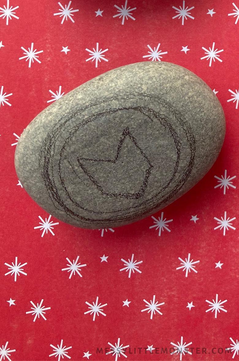 Hawkeye Craft - Superhero rock painting
