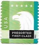Selo de 2012 Águia Americana, cor verde