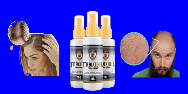 TÔNICO CAPILAR Trioxidil Funciona NOVA FÓRMULA, o Tônico capilar revitalizante anti-queda de cabelo