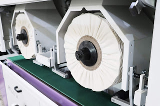 two cotton buffs wheels for the mirror polishing process