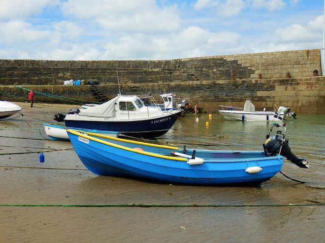 Boats in Polkerris Harbour