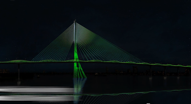 Hình bên cầu Cần Giờ