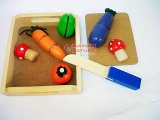 Sayur Potong Kecil Set Mainan Anak