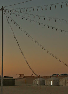 El magnífico Khor Al-Adaid o el Mar Interior de Qatar. Campamento al atardecer