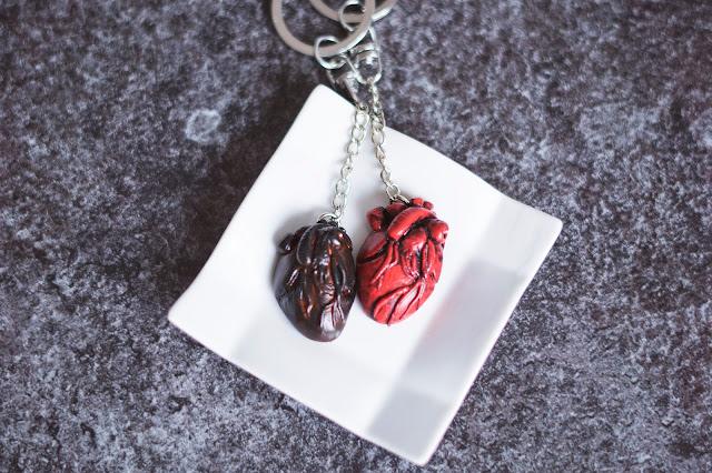 Walentynkowe serca breloczki