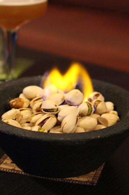 pistaches salées flambées