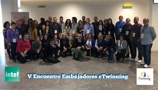 Foto de grupo de embajadores eTwinning del V encuentro