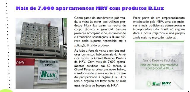 Mais de 7 Mil apartamentos com produtos B.Lux