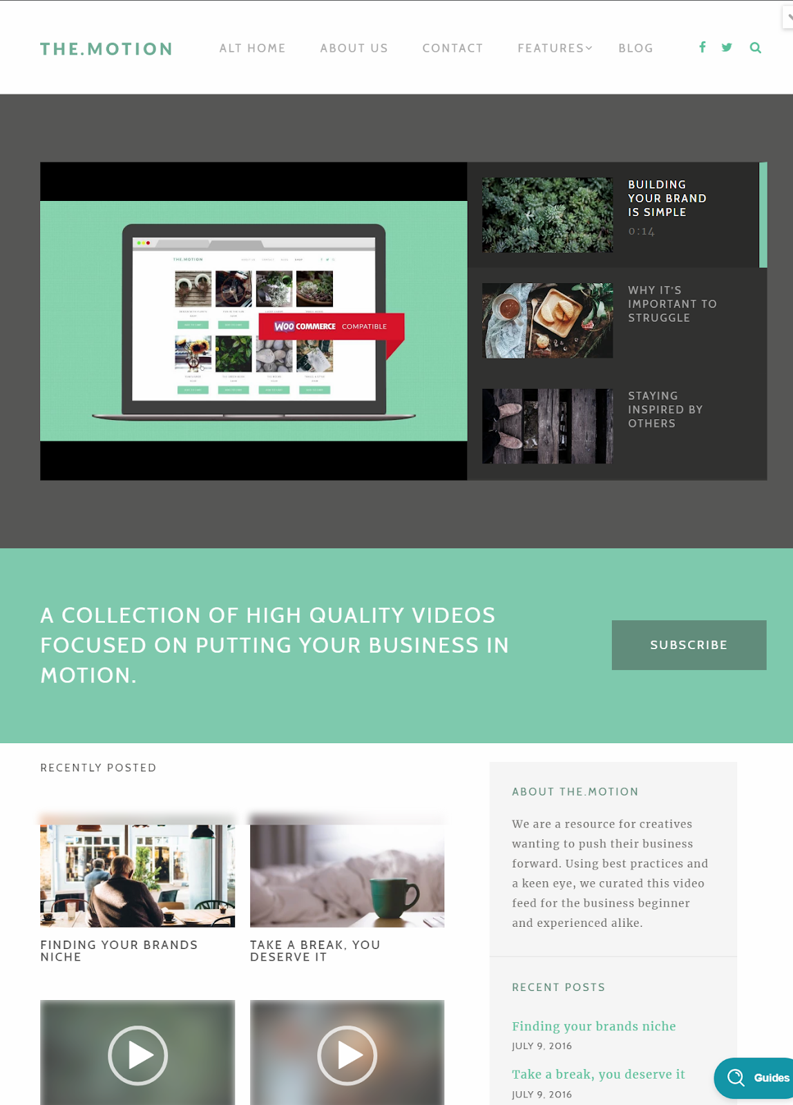 TheMotion - A WordPress Theme For Video Blogging | Free