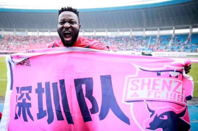 CHINE : FRANCK OHANDZA PROPULSE SHENZEN EN SUPER LEAGUE