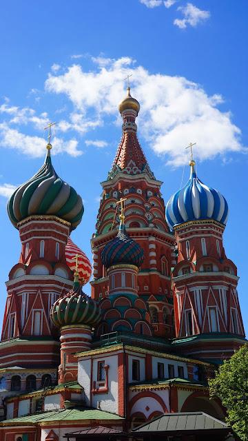 Изображение красивых куполов Храма Василия Блаженного