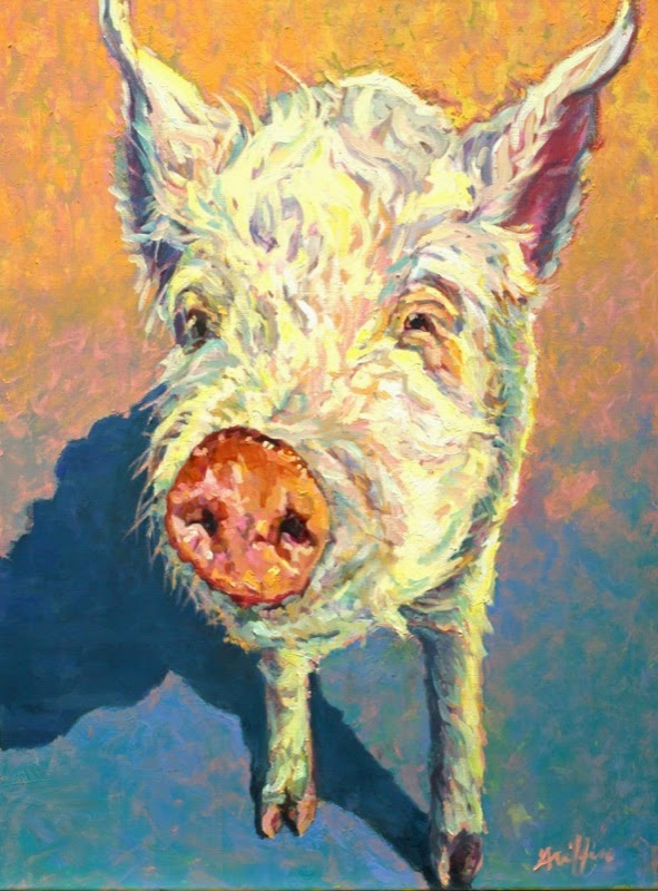 Daily Painters Abstract Gallery: Colorful Contemporary Pig ...