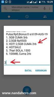 lagi memberikan promo paket internet murah kembali Paket Internet Tri HOT! 2.5GB hanya 2000 (24 Jam)