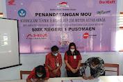 Tunjang Dunia Pendidikan, DAW Kerjasama dengan SMK N 1 Pusomaen