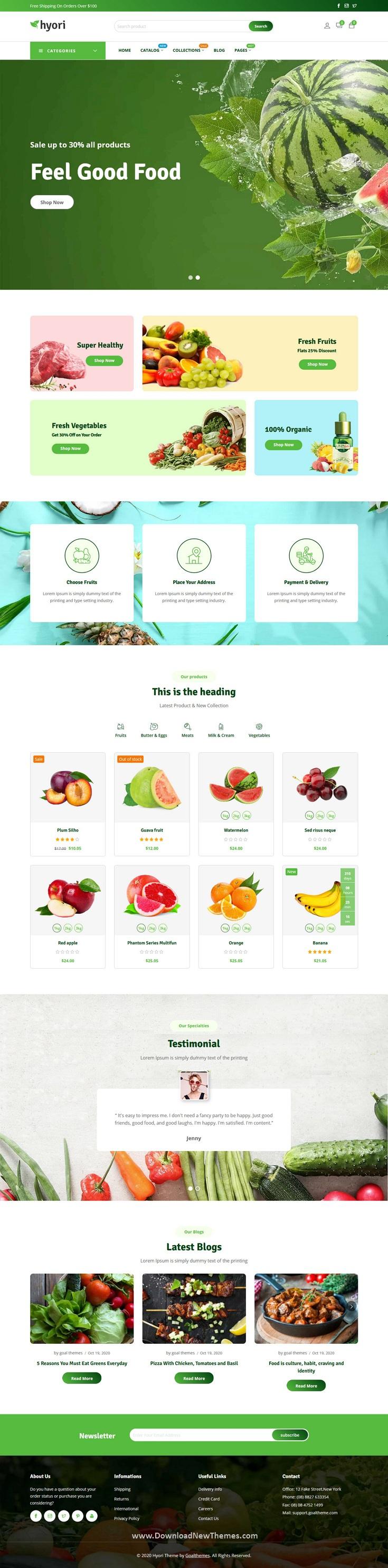 Grocery, Supermarket Shopify Theme